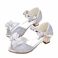 baratos Sapatos de Menina-Para Meninas Sapatos Sintéticos Primavera & Outono Sapatos para Daminhas de Honra / Salto minúsculos para Adolescentes Saltos para Prata / Azul / Rosa claro