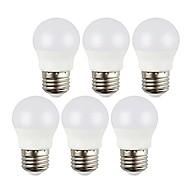 billige Globepærer med LED-6pcs 3 W 400 lm E26 / E27 LED-globepærer 6 LED perler SMD 5050 Dekorativ Varm hvit / Kjølig hvit 220-240 V