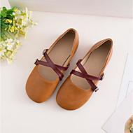 baratos Sapatos de Menina-Para Meninas Sapatos Pele Verão Conforto Rasos Botão para Infantil / Adolescente Bege / Amarelo / Rosa claro