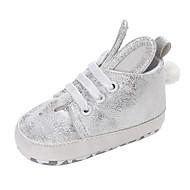 baratos Sapatos de Menina-Para Meninas Sapatos Cetim Primavera & Outono Conforto / Primeiros Passos Botas Lantejoulas / Cadarço para Bebê Preto / Prata / Rosa claro