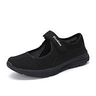 baratos Sapatos Femininos-Mulheres Sapatos Confortáveis Com Transparência Verão Esportivo Tênis Fitness Sem Salto Ponta Redonda Cinzento Escuro / Cinzento Claro / Vinho