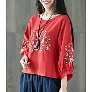 Dame - Geometrisk Basale T-shirt