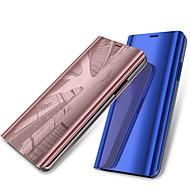 billiga Mobil cases & Skärmskydd-fodral Till OnePlus OnePlus 6 med stativ / Plätering / Spegel Fodral Enfärgad Hårt PU läder för OnePlus 6