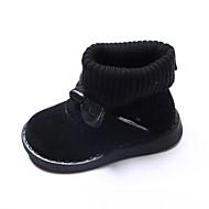 baratos Sapatos de Menina-Para Meninas Sapatos Couro Ecológico Outono & inverno Curta / Ankle Botas para Infantil Preto / Vermelho / Rosa claro / Botas Curtas / Ankle