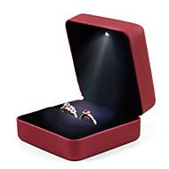 tanie Przechowywanie biżuterii-Przechowywanie Organizacja Kolekcja biżuterii Mieszane materiały Kwadrat Flip-open Cover