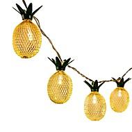 billiga Belysning-1pc 1.5m led stränglampor för hawaiian party diy dekoration droppe 10st ananas stränglampor för födelsedagsfest bröllop