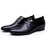 baratos Sapatos de Tamanho Pequeno-Homens Sapatos formais Couro Ecológico Primavera Negócio Oxfords Preto / Marron