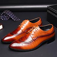 baratos Sapatos de Tamanho Pequeno-Homens Bullock Tênis Couro Ecológico Primavera / Verão Negócio Oxfords Preto / Amarelo / Vermelho
