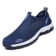 povoljno -Muškarci Udobne cipele Mrežica Jesen Ležerne prilike Atletičarke tenisice Hodanje Non-klizanje Slogan Crn / Dark Blue / Svjetlo siva
