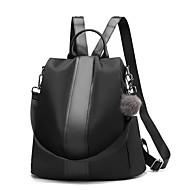 cheap School Bags-Women's Bags PU(Polyurethane) School Bag Solid Solid Color Black / Yellow / Khaki