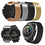 billiga Smart klocka Tillbehör-Klockarmband för Fenix 3 Garmin Milanesisk loop Rostfritt stål Handledsrem