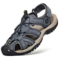 baratos Sapatos de Tamanho Pequeno-Homens Sapatos Confortáveis Pele Napa Verão Sandálias Água Respirável Preto / Cinzento / Marron