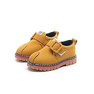 baratos Sapatos de Menino-Para Meninos / Para Meninas Sapatos Couro Ecológico Primavera & Outono / Primavera Conforto Rasos Caminhada Presilha para Infantil Preto / Cinzento / Amarelo