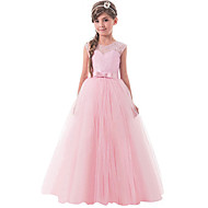 cheap -Kids Girls' Active / Sweet Party / Holiday Solid Colored Sleeveless Maxi Dress Pink