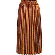 Žene A kroj Osnovni Maxi Suknje - Jednobojni