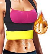 tanie Sprzęt i akcesoria fitness-Modelowanie sylwetki / Treningowy tank top wyszczuplający / Odzież modelująca Z 1 pcs Elastyna Elastyczny, Bez suwaka Utrata wagi, Spalacz tłuszczu na brzuchu, Wzmacnianie mięśni brzucha Dla Joga