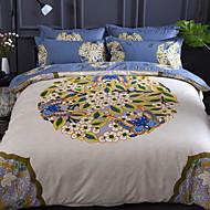 billige Blomstrete dynetrekk-Sengesett Blomstret / Geometrisk Polyester Reaktivt Trykk 4 deler
