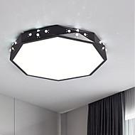 billige Taklamper-Sirkelformet Takplafond Omgivelseslys - Trefarget, 220-240V, Varm hvit + hvit, LED lyskilde inkludert