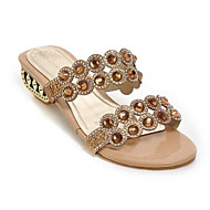 Women's Comfort Shoes Synthetics Summer Sandals Low Heel Gold / Blue