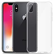Case Kompatibilitás Apple iPhone XR / iPhone XS Max Átlátszó Fekete tok Egyszínű Puha TPU mert iPhone XS / iPhone XR / iPhone XS Max