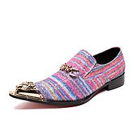 billige Herresko-Herre Læder sko Nappalæder Efterår Britisk Oxfords Wear Proof Gradient Regnbue / Fest / aften