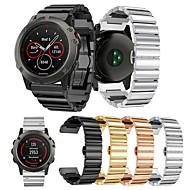 billiga Smart klocka Tillbehör-Klockarmband för Fenix 5x Garmin Klassiskt spänne Metall / Rostfritt stål Handledsrem