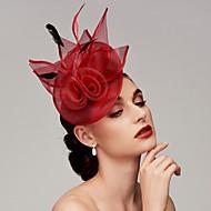 Pană / Net Kentucky Derby Hat / Palarioare / Accesoriu de Păr cu Pene / Floral / Flori 1 buc Nuntă / Ocazie specială Diadema