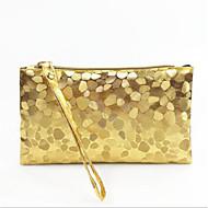 baratos Clutches & Bolsas de Noite-Mulheres Bolsas PU Bolsa de Mão Ziper Roxo / Amarelo / Prateado