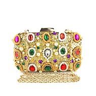 baratos Clutches & Bolsas de Noite-Mulheres Bolsas Poliéster / Liga Bolsa de Festa Lantejoulas / Detalhes em Cristal Floral Dourado