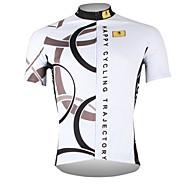Недорогие -ILPALADINO Муж. С короткими рукавами Велокофты Белый Велоспорт Джерси Верхняя часть Дышащий Быстровысыхающий Ультрафиолетовая устойчивость Виды спорта 100% полиэстер / Шоссейные велосипеды