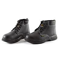 tanie Small Size Shoes-Męskie Komfortowe buty Skóra bydlęca Jesień i zima Botki Zatrzymujący ciepło Kozaczki / kozaki do kostki Czarny