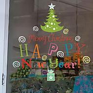 baratos Películas e Adesivos de Janela-Filme de Janelas e Adesivos Decoração Natal Férias PVC Legal / Shop / Cafe