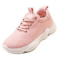 Χαμηλού Κόστους Περπάτημα-Γυναικεία Παπούτσια άνεσης Δίχτυ Φθινόπωρο Αθλητικά Παπούτσια Περπάτημα Επίπεδο Τακούνι Στρογγυλή Μύτη Λευκό / Μαύρο / Ροζ