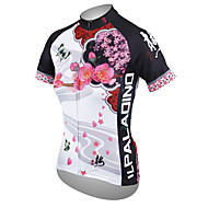 cheap -ILPALADINO Women's Short Sleeve Cycling Jersey White Floral Botanical Plus Size Bike Jersey Top Breathable Quick Dry Ultraviolet Resistant Sports Polyester 100% Polyester Terylene Mountain Bike MTB
