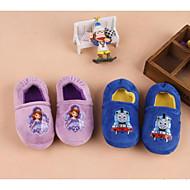 baratos Sapatos de Menino-Para Meninos / Para Meninas Sapatos Algodão Outono & inverno Conforto Chinelos e flip-flops Caminhada Estampa Animal para Bebê Roxo Claro / Azul