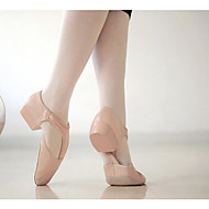 billige Ballettsko-Dame Ballettsko PU Høye hæler / Joggesko Tykk hæl Dansesko Svart / Rosa
