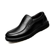 baratos Sapatos de Tamanho Pequeno-Homens Sapatos Confortáveis Couro Envernizado Outono Casual Mocassins e Slip-Ons Respirável Preto / Marron / Festas & Noite