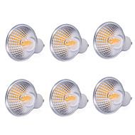 billige Spotlys med LED-ywxlight® high power 6pcs 5w light cup mr16 gu10 cob ledet lys kopp ledet pære led spotlight lampe ac 220-240v ac 110-130v