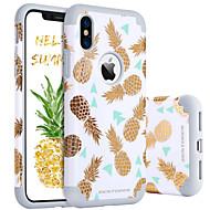 billiga Mobil cases & Skärmskydd-BENTOBEN fodral Till Apple iPhone X / iPhone XS Stötsäker / Mönster Skal Frukt Hårt PC / Kiselgel för iPhone XS / iPhone X