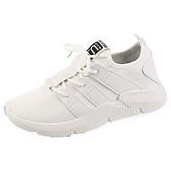 Χαμηλού Κόστους Περπάτημα-Γυναικεία Παπούτσια άνεσης PU Φθινόπωρο Αθλητικά Παπούτσια Περπάτημα Επίπεδο Τακούνι Στρογγυλή Μύτη Λευκό / Μαύρο / Ροζ