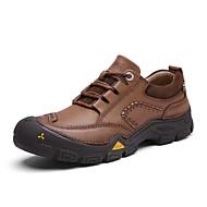 baratos Sapatos de Tamanho Pequeno-Homens Sapatos Confortáveis Pele Napa Primavera Tênis Aventura Use prova Preto / Marron / Khaki