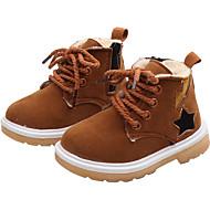 baratos Sapatos de Menina-Para Meninas Sapatos Camurça Outono & inverno Curta / Ankle Botas para Infantil Preto / Fúcsia / Marron / Botas Curtas / Ankle