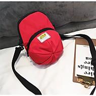 baratos Bolsas de Ombro-Mulheres Bolsas PU / Algodão Bolsa de Ombro Ziper Branco / Preto / Vermelho