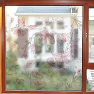 tanie סרטים ומדבקות לחלון-Folie okienne i naklejki Dekoracja Artystyczne / Retro Kwiaty Polichlorek winylu Nowy design / Nowoczesne