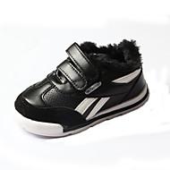 baratos Sapatos de Menino-Para Meninos Sapatos Couro Sintético / Couro Ecológico Primavera Verão Conforto Tênis Caminhada Combinação / Velcro para Infantil Branco / Preto / Estampa Colorida