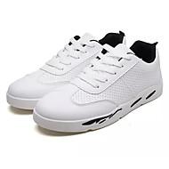 baratos Sapatos Masculinos-Homens Sapatos Confortáveis Couro Ecológico Verão Tênis Branco / Branco e Preto / Rosa e Branco