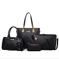 cheap Bag Sets-Women's Bags PU(Polyurethane) Bag Set 6 Pieces Purse Set Zipper Gold / Black / Beige