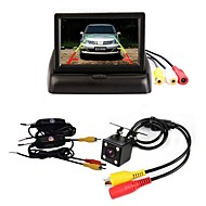 billiga Parkeringskamera för bil-BYNCG 4.3ZD 4.3 tum TFT-LCD 480TVL 480p 1/4-tums färg CMOS Kabel 120 grader 1 pcs 120 ° 4.3 tum Bakre kamera / Car Reversing Monitor / Bil baksidesats Vattentät / LED-indikator / Nattseende för