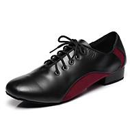 billige Moderne sko-Herre Moderne sko Semsket lær / Lær Joggesko Blondesøm / Tvinning Tykk hæl Dansesko Mørkerød / Militærgrønn