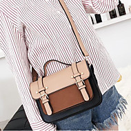 baratos Bolsas Satchel-Mulheres Bolsas PU Bolsa Carteiro Estampa Colorida Cinzento / Marron / Khaki
